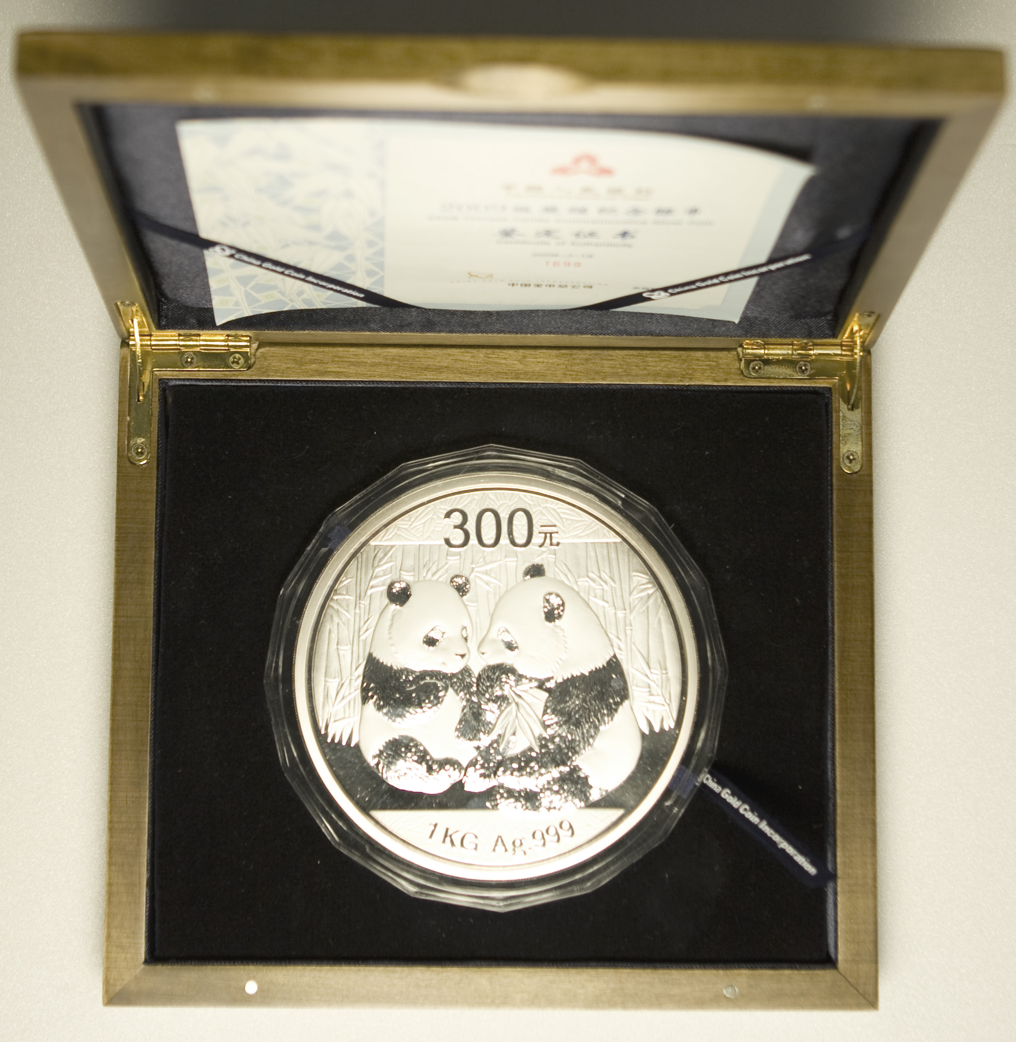 China Panda 1kg Münze 2009 Pro Aurum Numismatik