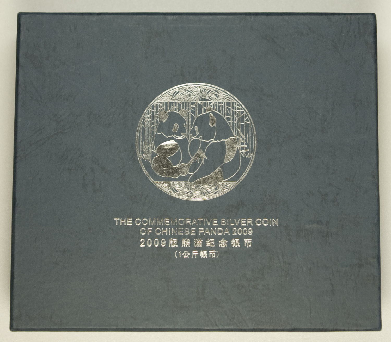 china-silbermuenzen-uebrige-welt - China Panda 1kg Münze 2009