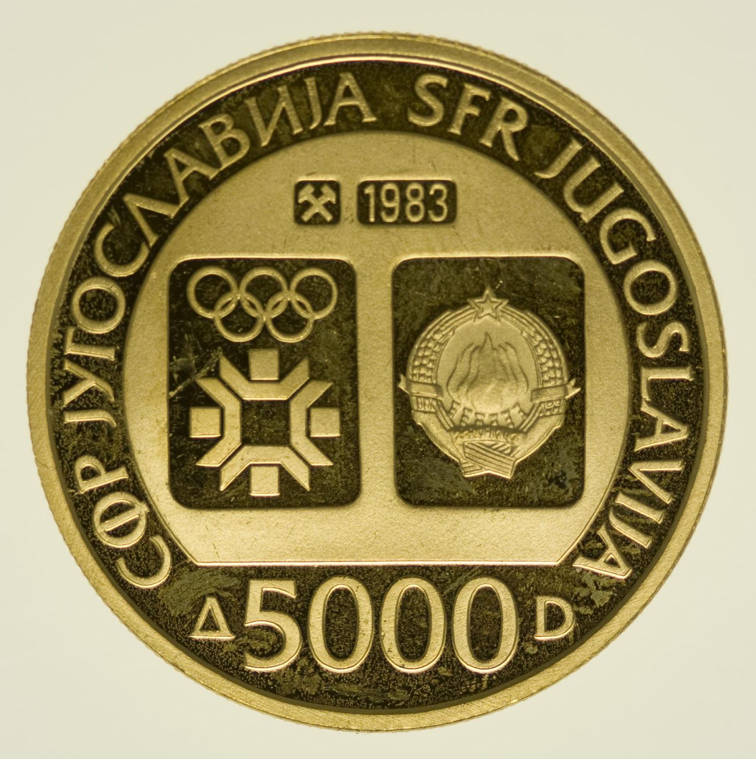 jugoslawien - Jugoslawien 5000 Dinara 1983
