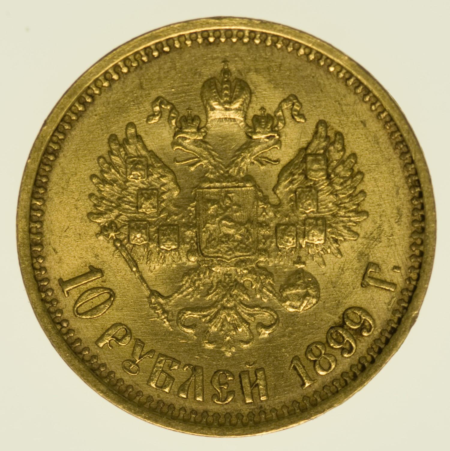 russland - Russland Nikolaus II. 10 Rubel 1899