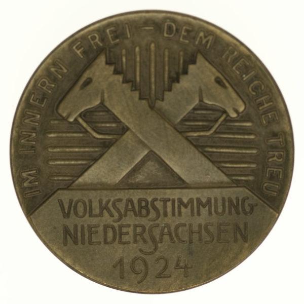 weimarer-republik-deutsche-silbermuenzen - Weimarer Republik Bronzemedaille 1924