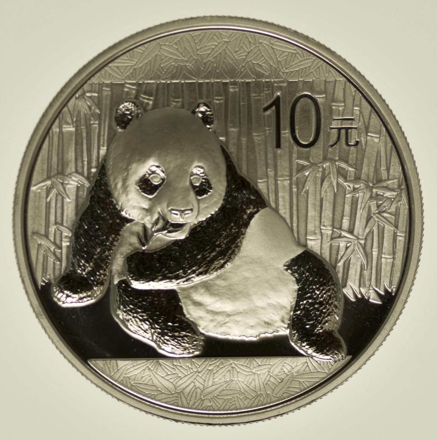 china-silbermuenzen-uebrige-welt - China Panda 1 Unze 2015