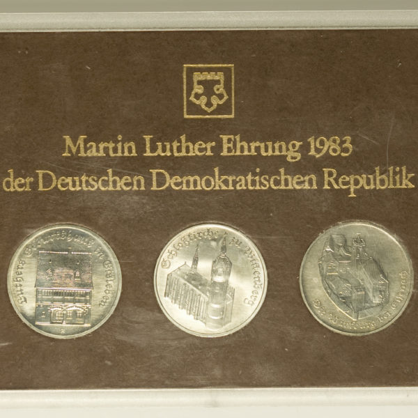 ddr-deutsche-silbermuenzen - DDR Set 3x 5 Mark 1983 Martin Luther Ehrung