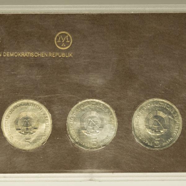 ddr-deutsche-silbermuenzen - DDR Set 3x 5 Mark 1983 Martin Luther Ehrung