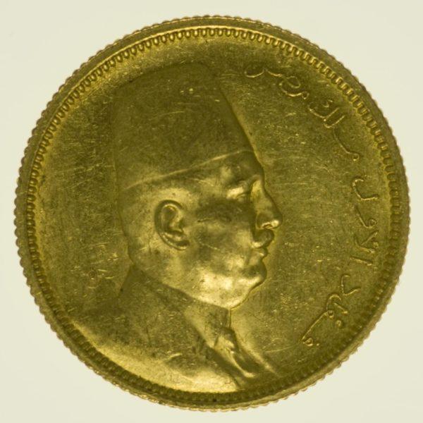 Ägypten Fuad I. 100 Piaster 1922 Gold 7,44 Gramm fein RAR