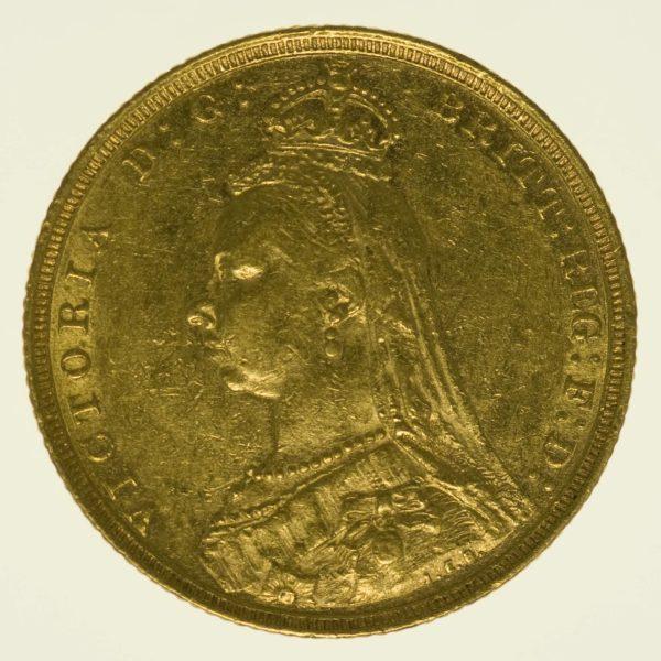 Australien Victoria Sovereign 1893 S Sydney Gold 7,32 Gramm fein RAR