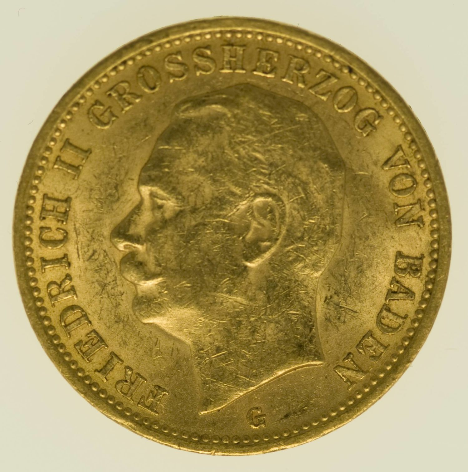 Baden Friedrich II. 20 Mark 1912 Gold 7,16 Gramm fein RAR