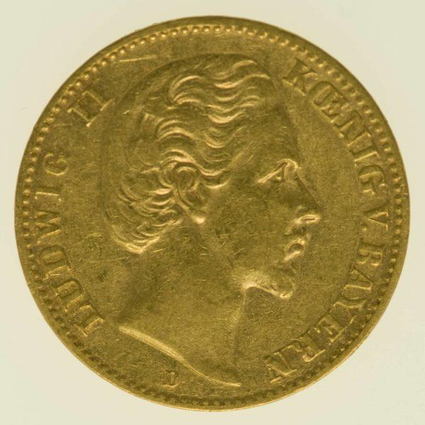 Bayern Ludwig II. 10 Mark 1880 Gold 3,58 Gramm fein RAR