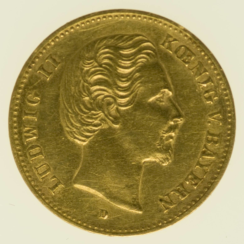 Bayern Ludwig II. 5 Mark 1877 Gold 1,79 Gramm fein RAR