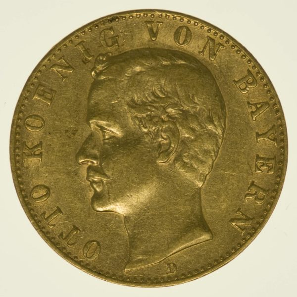 Bayern Otto 10 Mark 1888 Gold 3,58 Gramm fein RAR