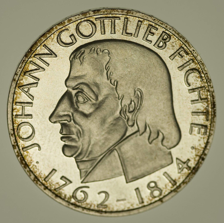 Bundesrepublik Deutschland Johann Fichte 5 DM 1964 Silber 7 Gramm fein RAR