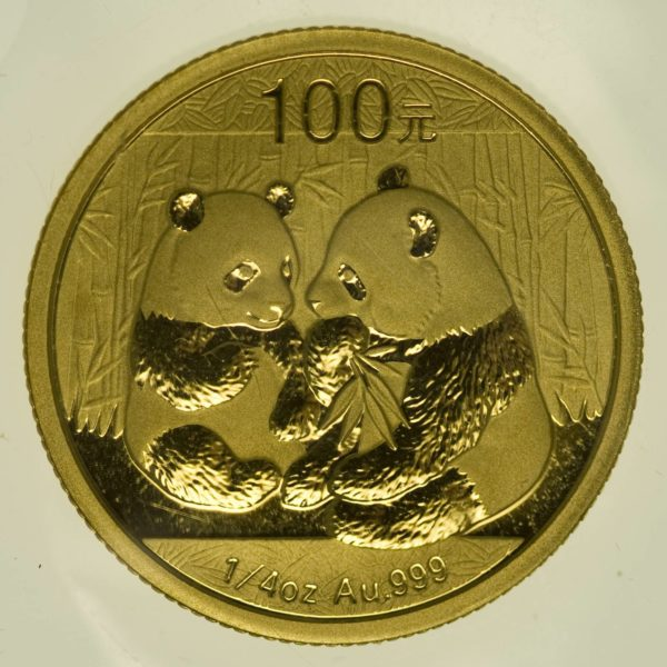 1/4 Unze Goldmünze China Panda 2009 100 Yuan 7,78 Gramm fein Gold RAR