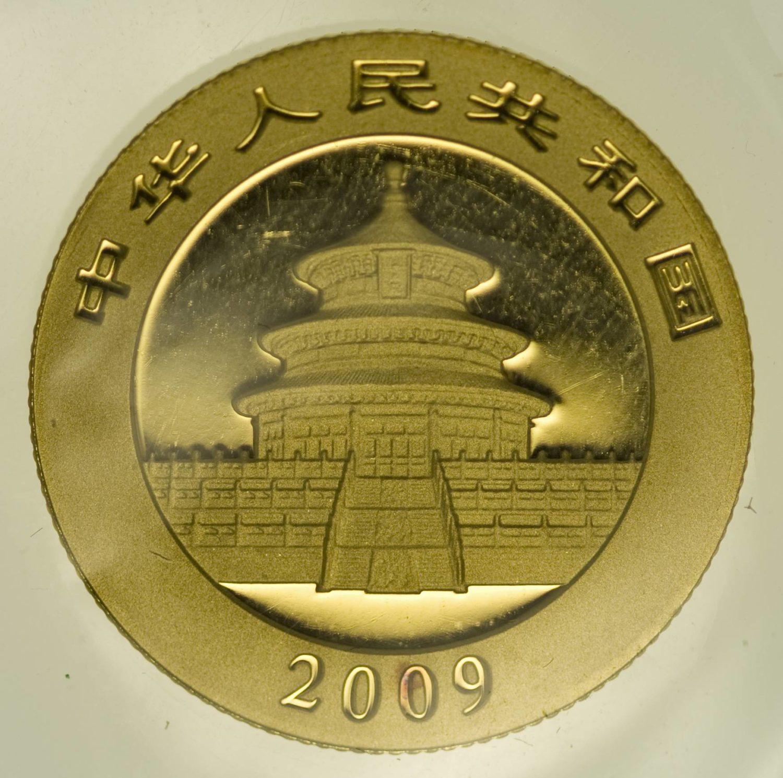 1/4 Unze Goldmünze China Panda 2009 100 Yuan 7,78 Gramm fein Gold RAR