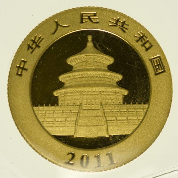 1/4 Unze Goldmünze China Panda 2011 100 Yuan 7,78 Gramm fein Gold RAR