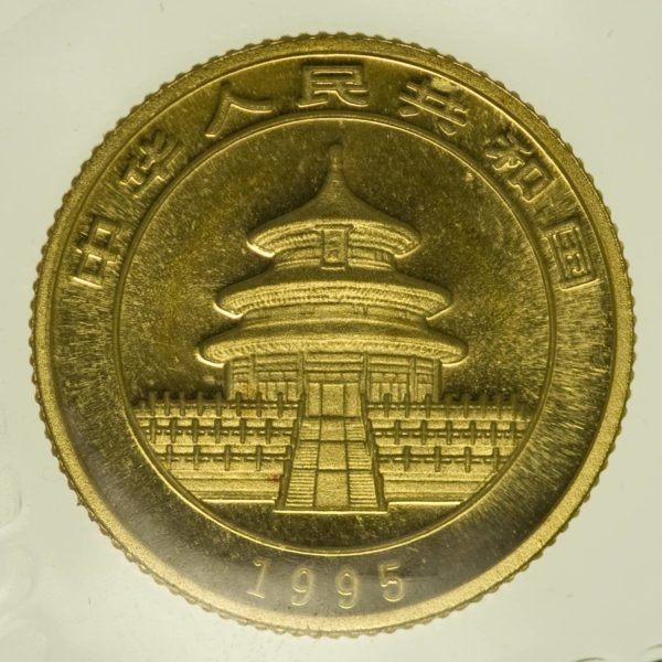 1/10 Unze Goldmünze China Panda 1995 10 Yuan 3,11 Gramm fein Gold RAR