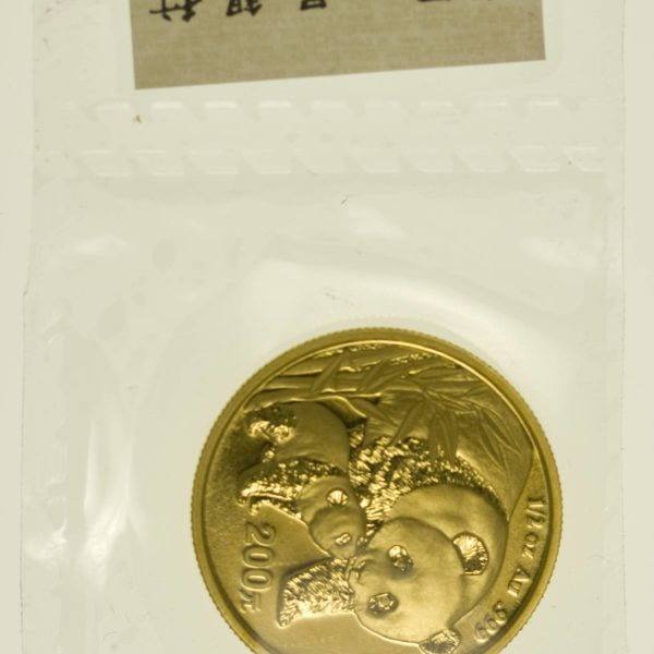 1/2 Unze Goldmünze China Panda 2004 200 Yuan 15,55 Gramm Gold RAR
