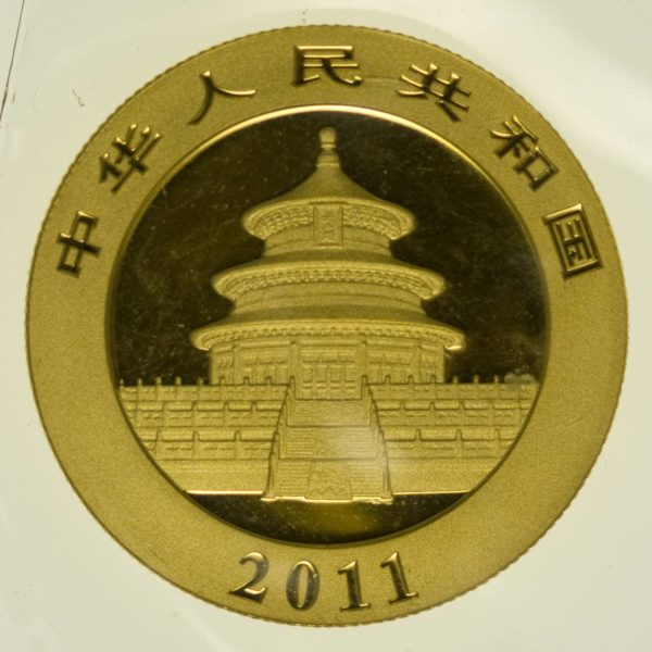 1/2 Unze Goldmünze China Panda 2011 200 Yuan 15,55 Gramm Gold RAR