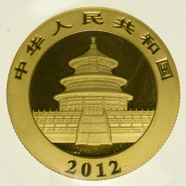 1/2 Unze Goldmünze China Panda 2012 200 Yuan 15,55 Gramm Gold RAR