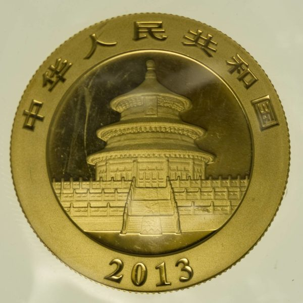 1/2 Unze Goldmünze China Panda 2013 200 Yuan 15,55 Gramm fein Gold RAR