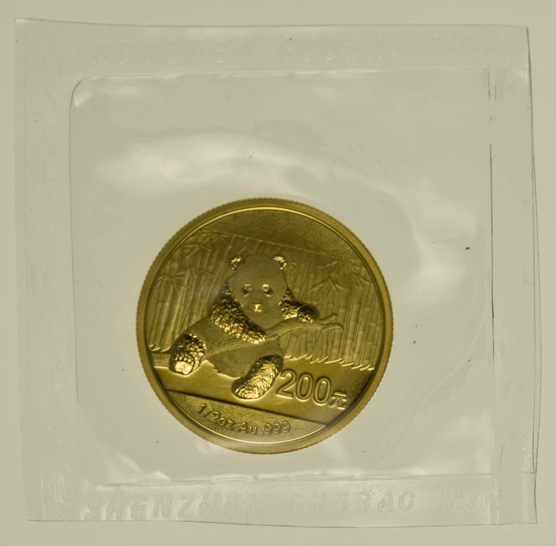 1/2 Unze Goldmünze China Panda 2014 200 Yuan 15,55 Gramm fein Gold RAR