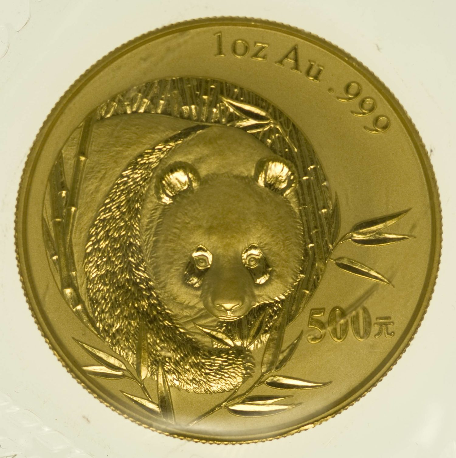 1 Unze Goldmünze China Panda 2003 500 Yuan 31,1 Gramm Gold RAR