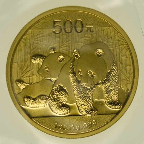 1 Unze Goldmünze China Panda 2010 500 Yuan 31,1 Gramm Gold RAR