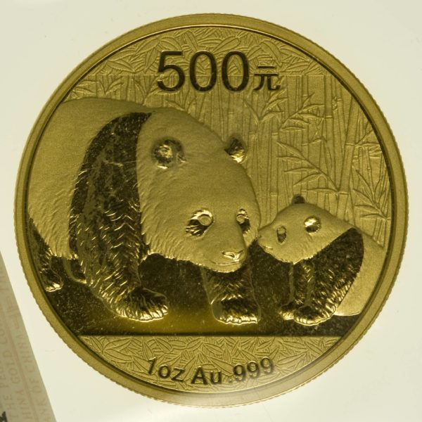 1 Unze Goldmünze China Panda 500 Yuan 2011 31,1 Gramm fein Gold RAR