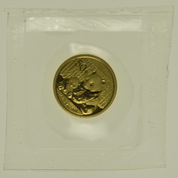 1/10 Unze Goldmünze China Panda 2012 50 Yuan 3,11 Gramm fein Gold RAR