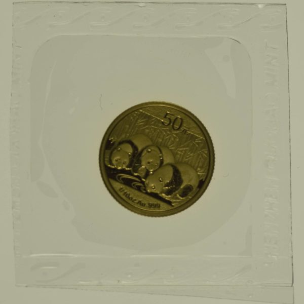 1/10 Unze Goldmünze China Panda 2013 50 Yuan 3,11 Gramm fein Gold RAR