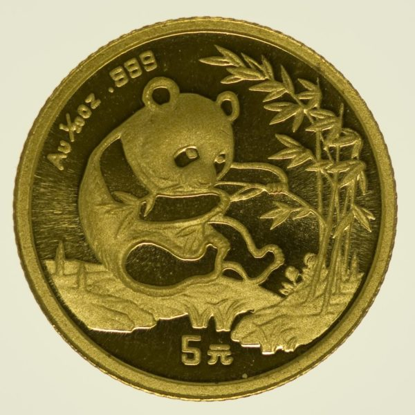 1/20 Unze Goldmünze China Panda 1994 5 Yuan 1,56 Gramm fein Gold RAR