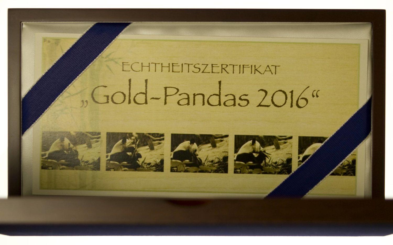 China Panda Set 2016 Gold 1g bis 30g - 5 Münzen - 57 Gramm fein RAR