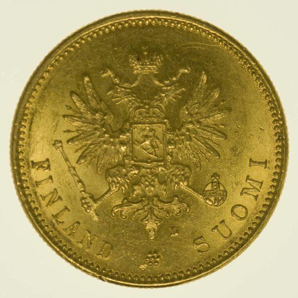 Finnland Nikolaus II. 20 Markkaa 1903 Gold 5,81 Gramm fein RAR