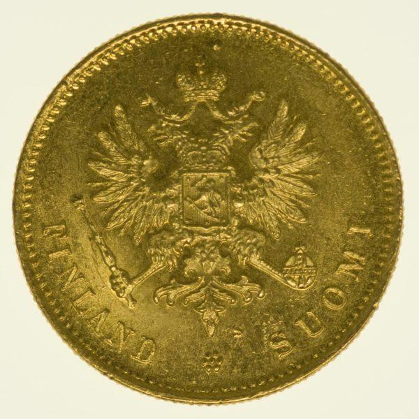 Finnland Nikolaus II. 20 Markkaa 1913 Gold 5,81 Gramm fein RAR