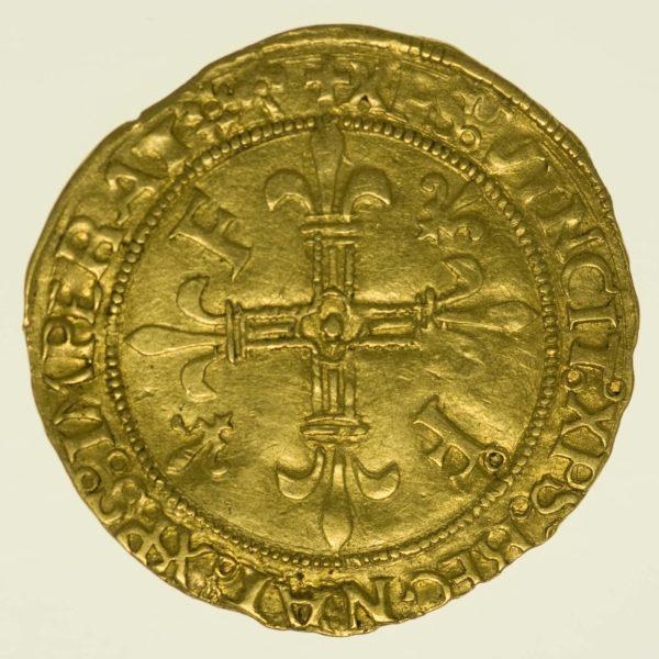 Frankreich Franz I. Ecu d'or au soleil o.J. Gold RAR