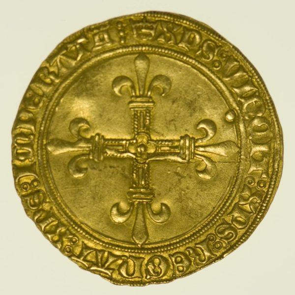 Frankreich Karl VIII. Ecu d'or au soleil o.J. Gold RAR