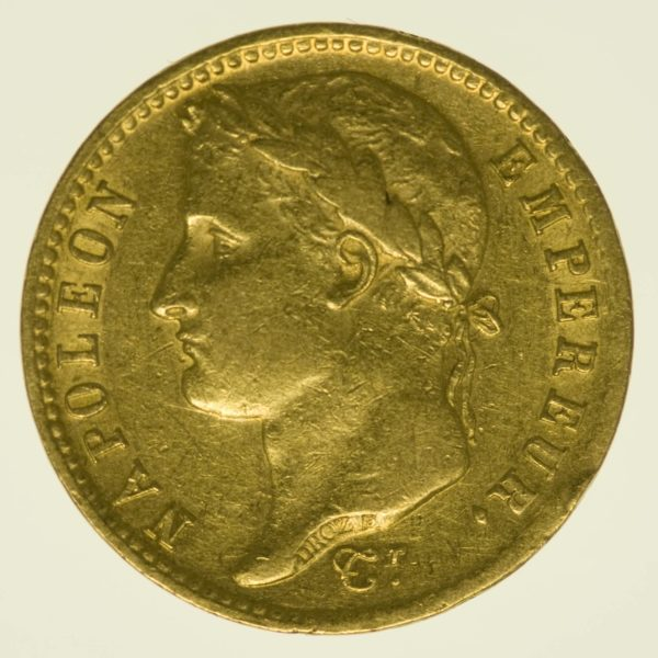 Frankreich Napoleon I. 20 Francs 1810 A Gold 5,81 Gramm fein RAR