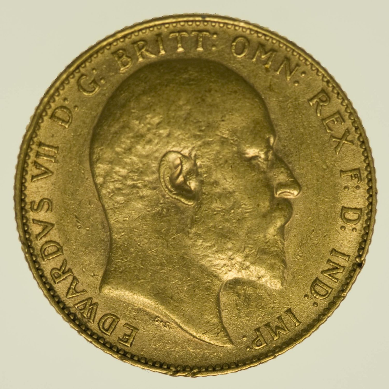 Grossbritannien Edward VII. Sovereign 1908 Gold 7,32 Gramm fein RAR