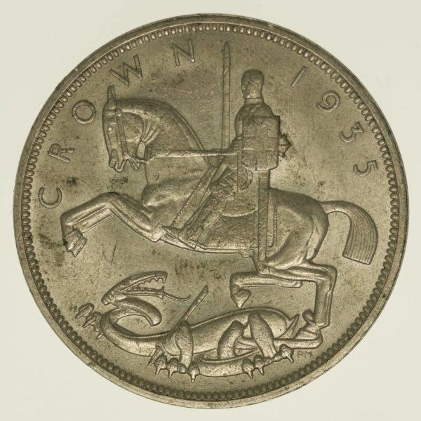 Grossbritannien Georg V. Crown 1935 Silber 14,14 Gramm fein RAR