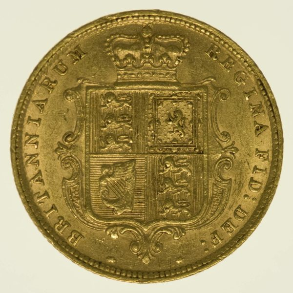 Grossbritannien Victoria 1/2 Sovereign 1883 Gold 3,66 Gramm fein RAR