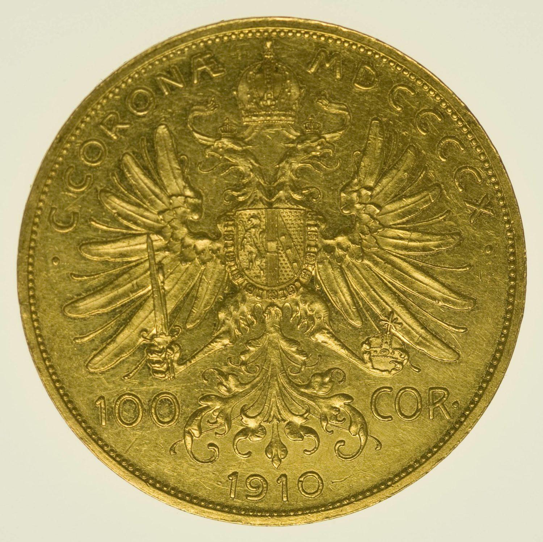 Österreich Franz Joseph I. 100 Kronen 1910 Gold 30,49 Gramm fein RAR