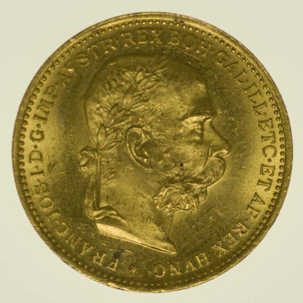 Kaiserreich Österreich Franz Joseph I. 20 Kronen 1894 Gold 6,09g fein RAR