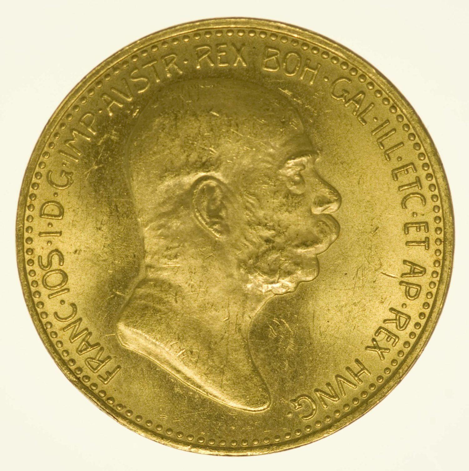 Kaiserreich Österreich Franz Joseph I. 20 Kronen 1908 Gold 6,09g fein RAR