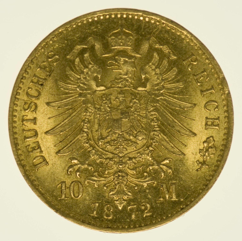 deutsches-kaiserreich-ab-1871 - Hessen Ludwig III. 10 Mark 1872