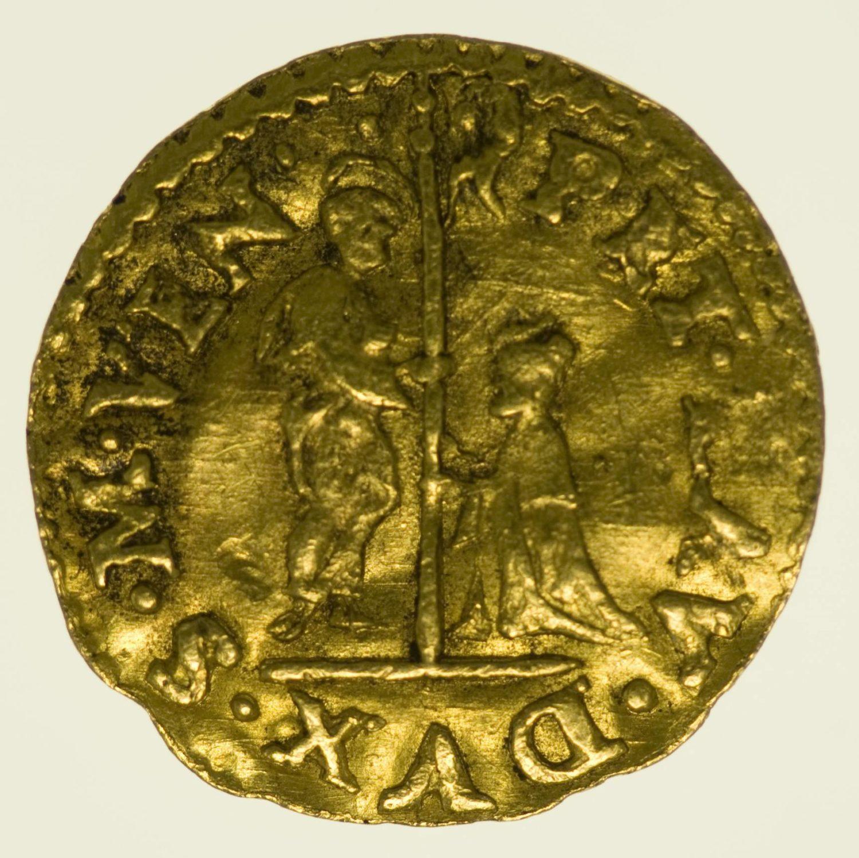 Italien Venedig Pietro Loredan 1/4 Zecchino o. J. Gold 0,86 Gramm RAR