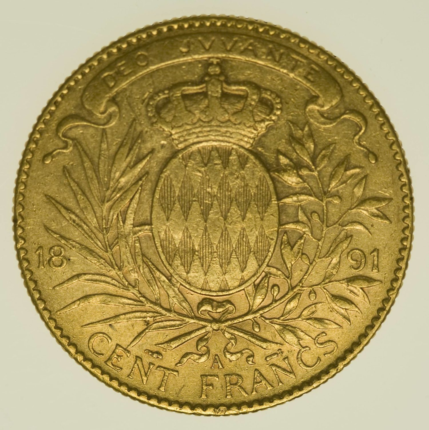 Monaco Albert I. 100 Francs 1891 A Gold 29,03 Gramm fein RAR