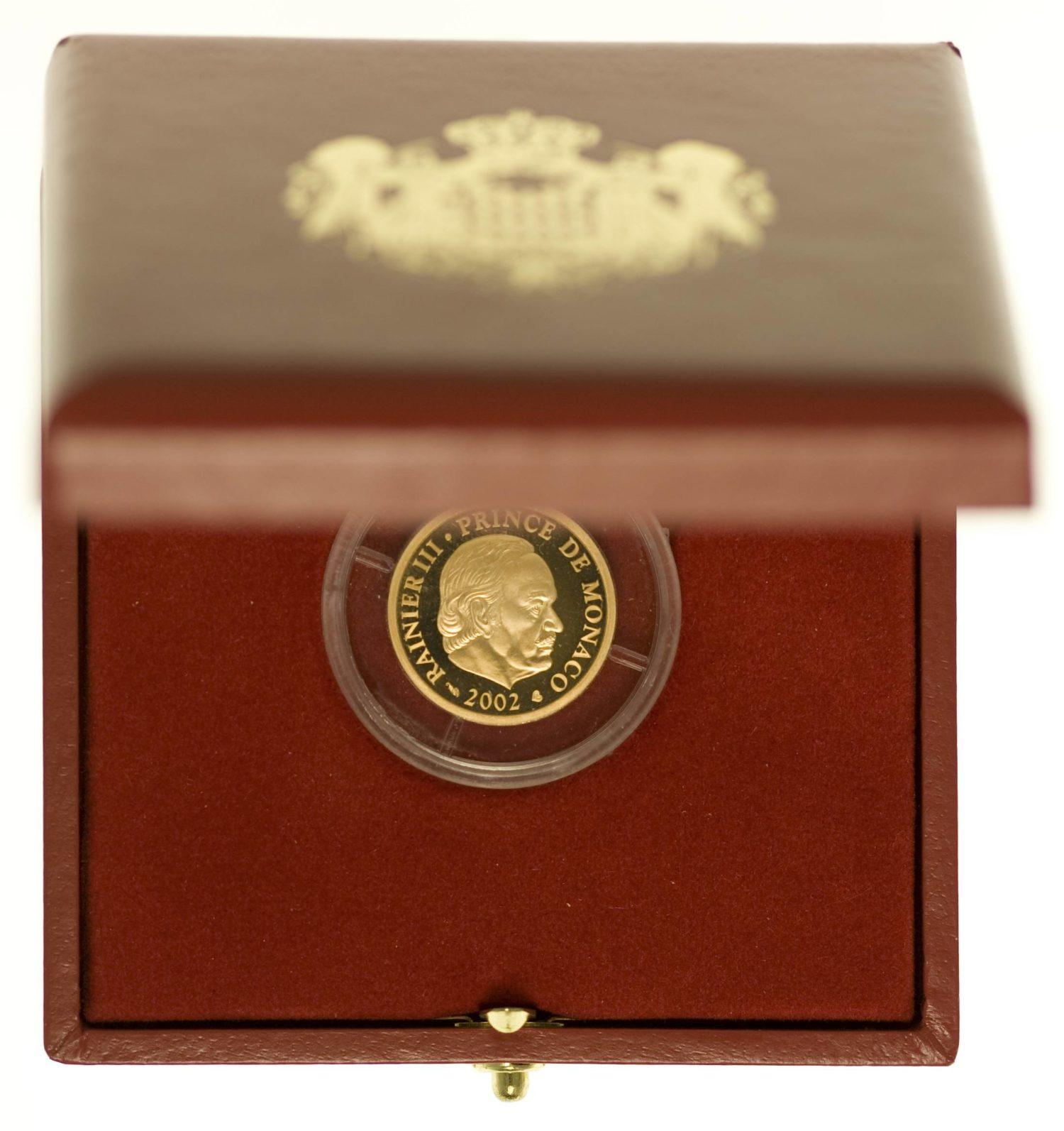 Monaco Rainier III. 20 Euro 2002 Gold 5,81 Gramm fein RAR