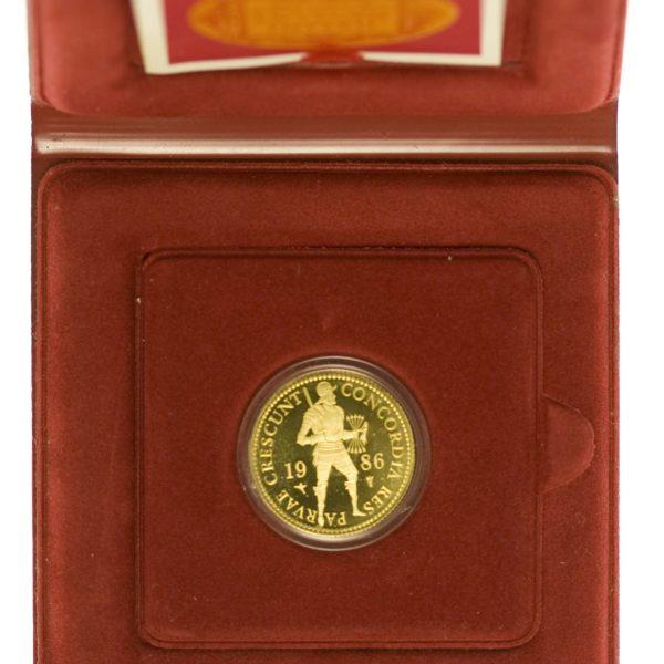 Niederlande Beatrix Dukat 1986 PP Gold 3,44 Gramm fein mit Etui RAR