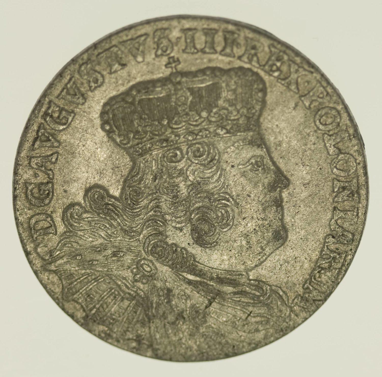 Polen 18 Gröscher 1754 Silber 5,56 Gramm brutto RAR