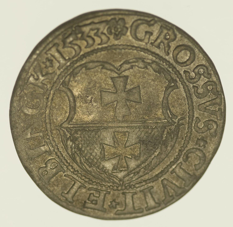 Polen Elbing Groschen 1533 Silber 2,16 Gramm brutto RAR