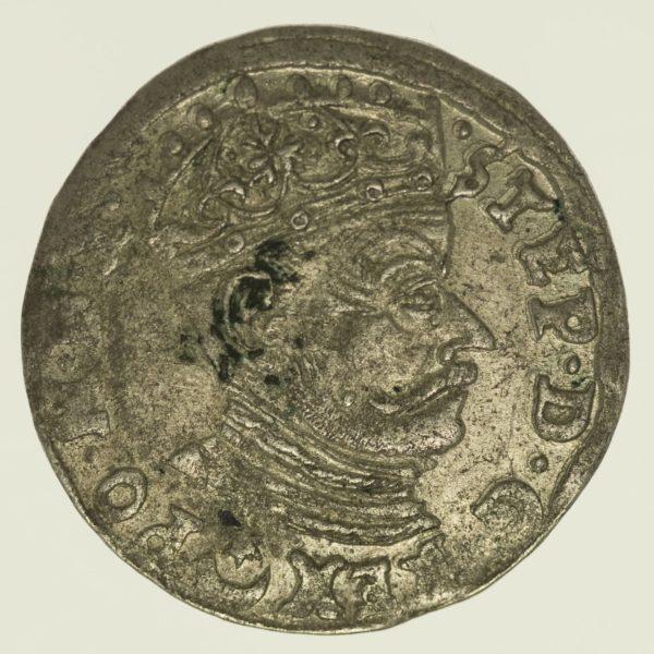 Polen 3 Gröscher 1581 Silber 2,24 Gramm brutto RAR
